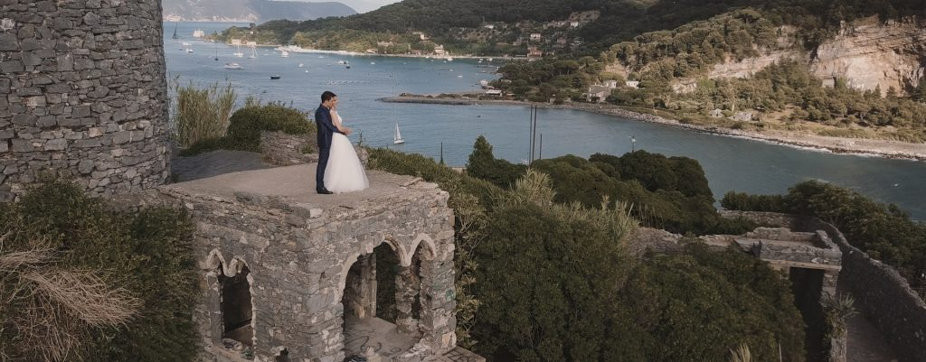 Destination wedding videographer Portofino