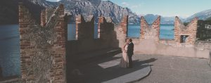 Destination wedding in Malcesine Castle Garda Lake G and F