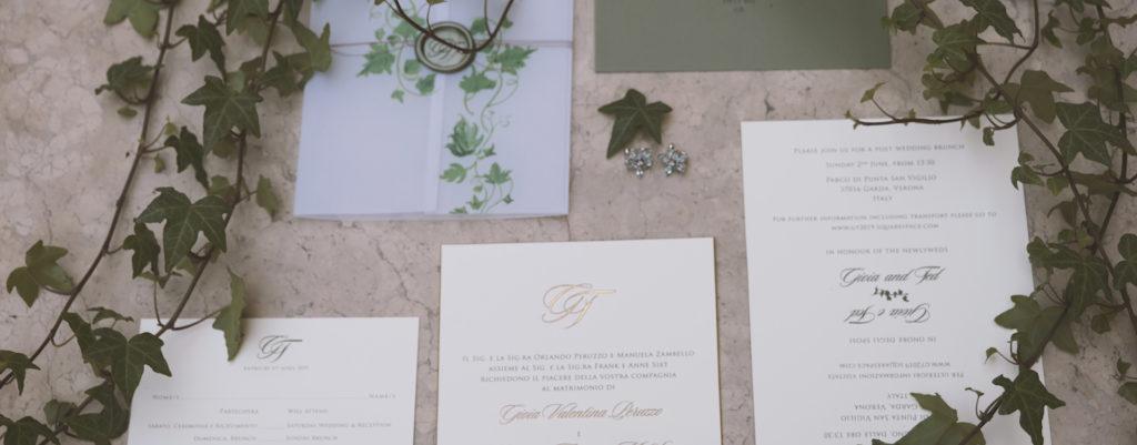 Wedding stationery Giulia & Ted